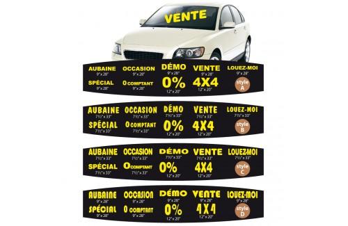 Messages pour véhicule