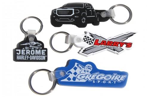 Porte-clés souples de forme spéciale
