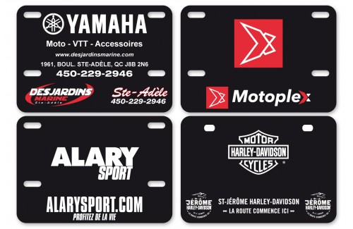 Motorcycle plates